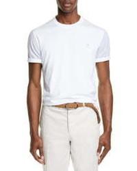 Brunello Cucinelli Contrast Sleeve T Shirt