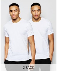 Calvin Klein Crew Neck T Shirts In 2 Pack In Slim Fit