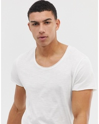 Jack & Jones Essentials Longline T Shirt With Raw Neck