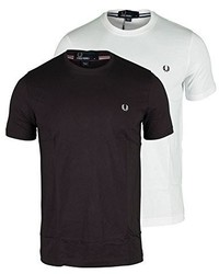Fred Perry Crew Neck T Shirt Vintage Steel Marl T Shirt