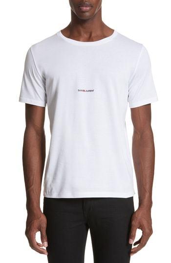 Saint Laurent Gauche Logo T Shirt