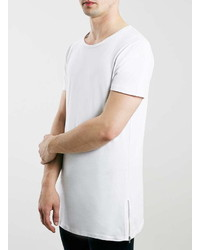 Selected Homme Sport White Longline T Shirt