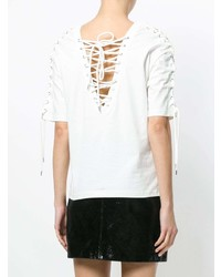 McQ Alexander McQueen Lace Up Detail T Shirt