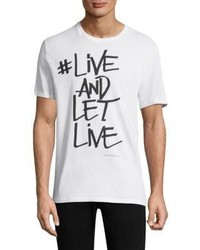 Neil Barrett Live And Let Live Graffiti Cotton Tee