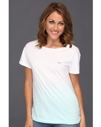Lacoste Lve Ss Cewneck Dip Dye Tee Shot Sleeve Pullove