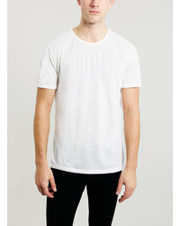 Topman Made In Uk Cream Crew Neck T Shirt