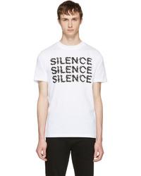 McQ by Alexander McQueen Mcq Alexander Mcqueen White Silence T Shirt