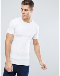 ASOS DESIGN Muscle Fit T Shirt With Crew Neck In White