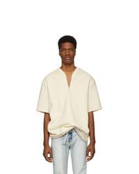 Fear Of God Off White Half Zip T Shirt