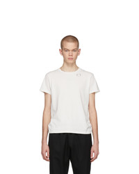 Saint Laurent Off White Heart Logo T Shirt