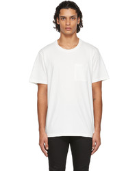 Nudie Jeans Off White One Pocket Roy T Shirt