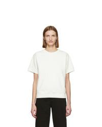MM6 MAISON MARGIELA Off White Short Sleeve Sweatshirt