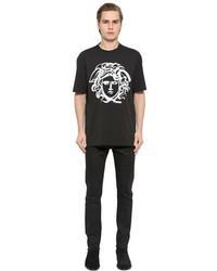 Versace Paint Effect Medusa Jersey T Shirt