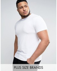 Asos Plus Muscle T Shirt With Crew Neck In White