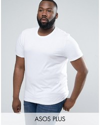 Asos Plus T Shirt With Crew Neck In White
