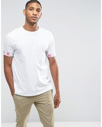 Asos Relaxed T Shirt With Pastel Grid Roll Sleeve