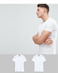 Hugo Round Neck 2 Pack T Shirts In White
