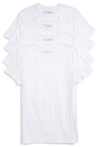 Nordstrom Shop 4 Pack Trim Fit Supima Cotton Crewneck T Shirt
