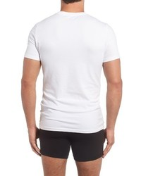 Nordstrom Shop Trim Fit 3 Pack Stretch Cotton Crewneck T Shirt