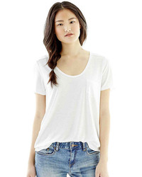 Joe Fresh Short Sleeve Boyfriend Solid T Shirt