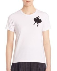 Marc Jacobs Short Sleeve Crewneck Cotton Tee