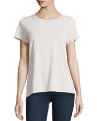 Eileen Fisher Short Sleeve Organic Cotton Tee Petite