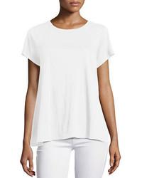 Eileen Fisher Short Sleeve Organic Linen Jersey Tee Petite