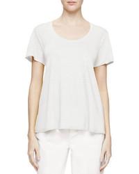 Eileen Fisher Short Sleeve U Neck Organic Linen Tee Petite