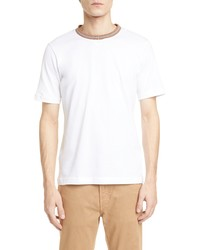 Eleventy Slim Fit Cotton Crewneck T Shirt