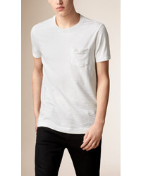 Burberry Slub Jersey Double Dyed T Shirt
