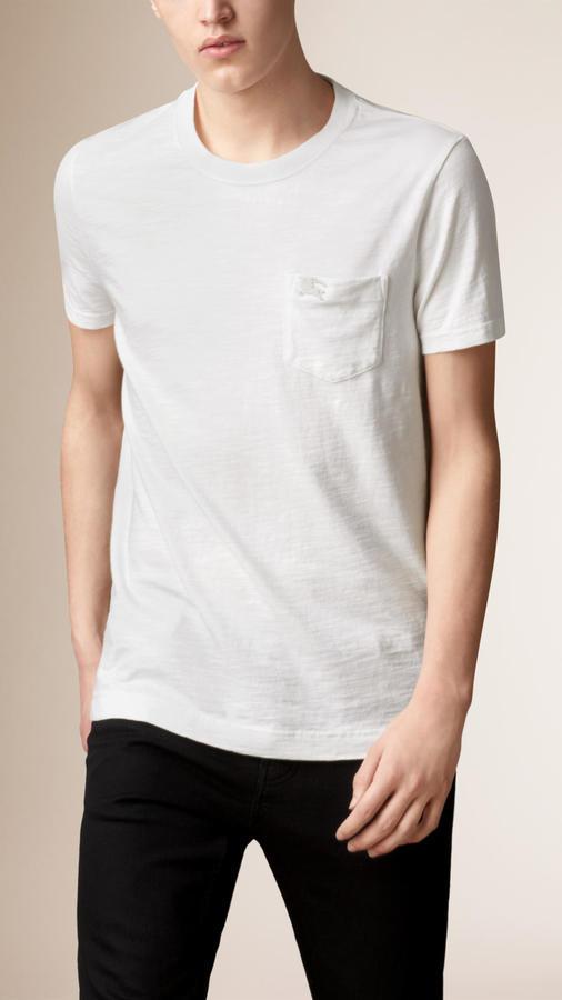 0e789fbf Burberry Slub Jersey Double Dyed T Shirt, $195 | Burberry ...