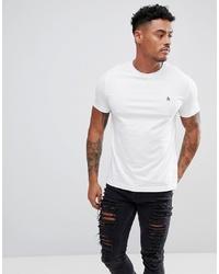Original Penguin Small Logo T Shirt Slim Fit In White