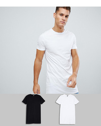 ASOS DESIGN Super Longline T Shirt 2 Pack Save