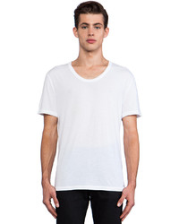 Alexander Wang T By Classic Low Neck Tee In White