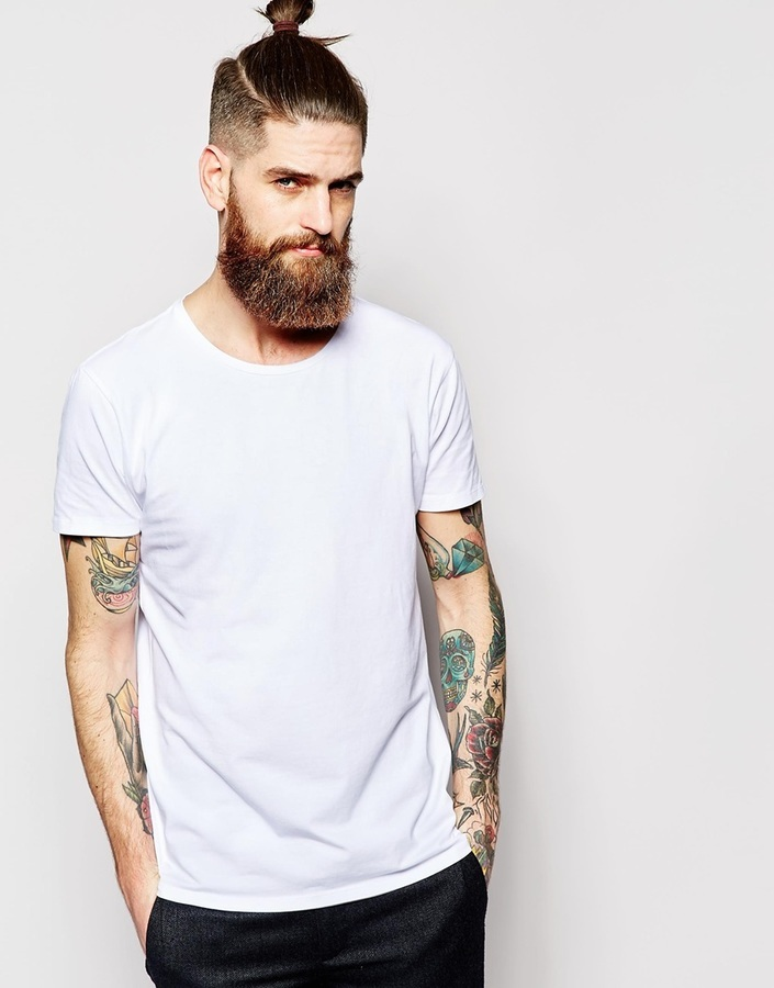 d174acf3f04d ... White Crew-neck T-shirts Scotch & Soda T Shirt In Stretch Cotton ...