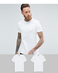 ASOS DESIGN T Shirt With Crew Neck 2 Pack Save
