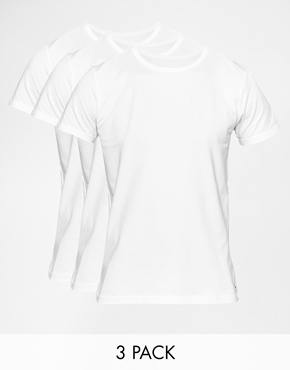 ... Tommy Hilfiger Tommy Hilfiger Stretch Crew Neck T-Shirts In 3 Pack In  Regular Fit
