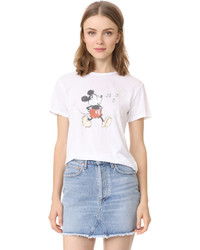 David Lerner Whistling Mickey Crew Neck Tee