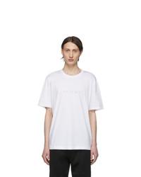 Helmut Lang White Alien Logo T Shirt