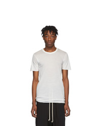 Rick Owens White Basic T Shirt