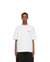 Balenciaga White Bb Medium Fit T Shirt