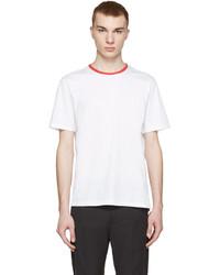 AMI Alexandre Mattiussi White Contrast Collar T Shirt
