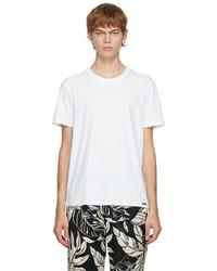 Tom Ford White Cotton Crewneck T Shirt