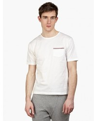 Thom Browne White Cotton Pique T Shirt