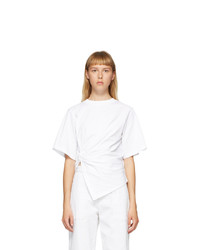 See by Chloe White Draped Knot T Shirt