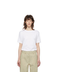 Acne Studios White Ellison Face T Shirt