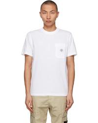 Stone Island White Fissato Treatt T Shirt
