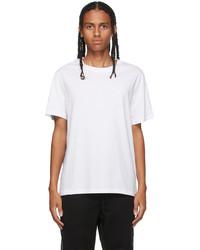 Moncler White Flocked Graphic T Shirt