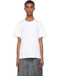 Thom Browne White Gusset Rwb Tipping Stripe T Shirt