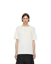 Isabel Benenato White Hem Detail T Shirt